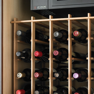 Le Cache Euro 2400 Wine Cabinet Chocolate Cherry