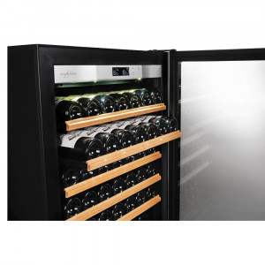 Transtherm Ermitage Prestige: Black Glass / Fully Shelved