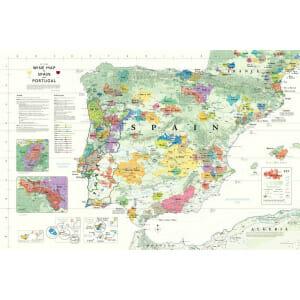 Wine Map of Spain & Portugal (Iberian Peninsula)