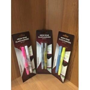 Neon Wine Glass Markers