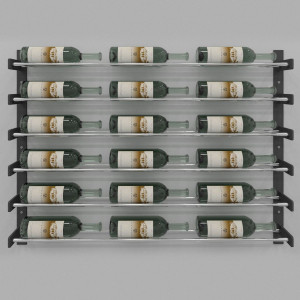 Evolution Wine Wall 30″ Wall Mounted Wine Rack (18 to 54 bottles)