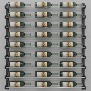 Evolution Wine Wall 45″ Wall Mounted Wine Rack (27 to 81 bottles)