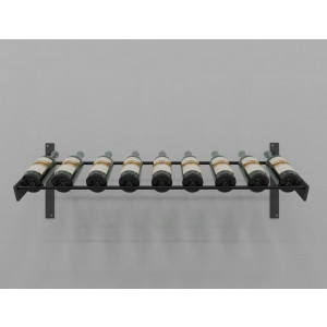 Evolution Series Wine Wall Presentation Row Wine Rack (9 bottles)