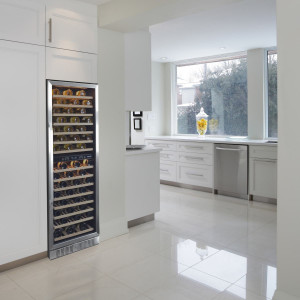 "NewAir 27"" 160 Bottle Built-in Dual Zone Compressor Wine Fridge"