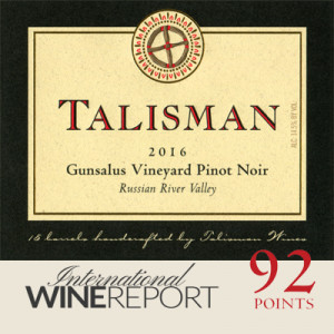 2016 Talisman Gunsalus Vnyd Pinot Noir, RRV