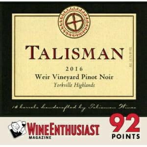 2016 Talisman Weir Vineyard Pinot Noir, Yorkville Highlands